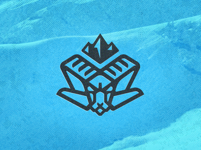 Ram Head 2 Drib king mountain illustration bruner design icon logo ram