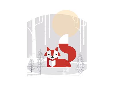 Fox_drib outdoors design animals wildlife graphicart digitalart designwisely mikebruner illustration fox
