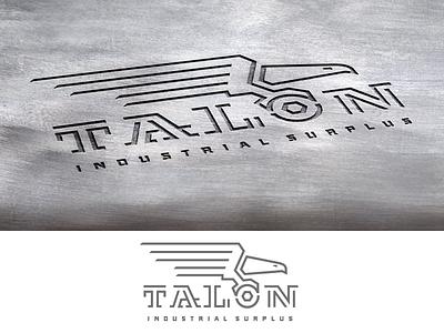 Talon_drib hardware logo design mikebruner construction industrial eagle