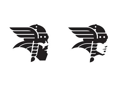 Norse_drib brand logo illustration mikebruner viking head human design mascot norsemen