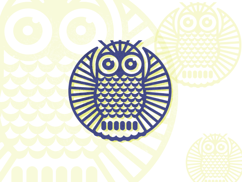 Owl Round Drib designwisely illustration icon logo round circle mikebruner design owl