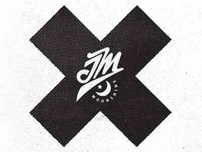 JM Moonshine label wedding save the date design graphic bottle label mike bruner alcohol