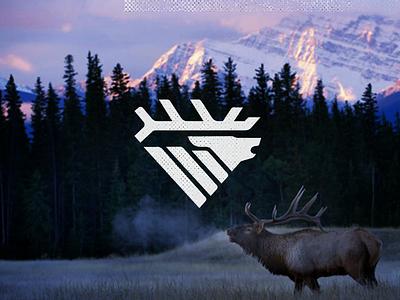 Elk Bugle drib mountain mikebruner logo icon bugle hunting elk