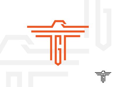 TG eagle monogram drib