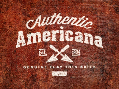 Americana Bricks brick clay authentic logo productdesign mike bruner classic