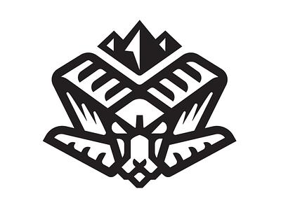RAM HEAD drib embroidery cap mountain bw mikebruner graphic logo icon design ram