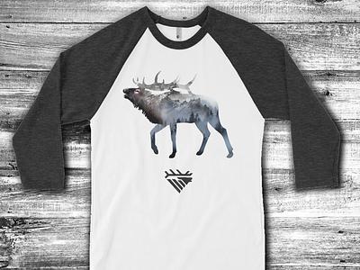 Elk- Primal Instinct tee shirt graphic elk call illustration mikebruner mountains elk