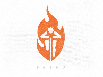 Speed cyclist bike speed illustration flame icon logo graphic design mike bruner racer