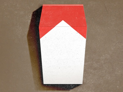 Cigarette coffin drib
