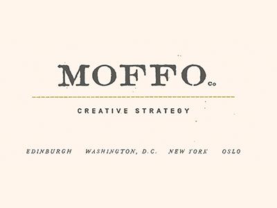 Moffo moffo creative strategy branding brand logo letterpress