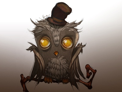 it surely was a hoot owl spooky illustration ilias patlis art character