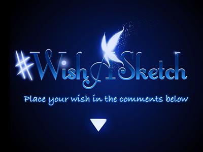Wish A Sketch wishasketch typography logo fairys magic project illustration art