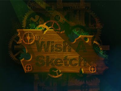 Dribbble wishasketch design steampunk typography gear