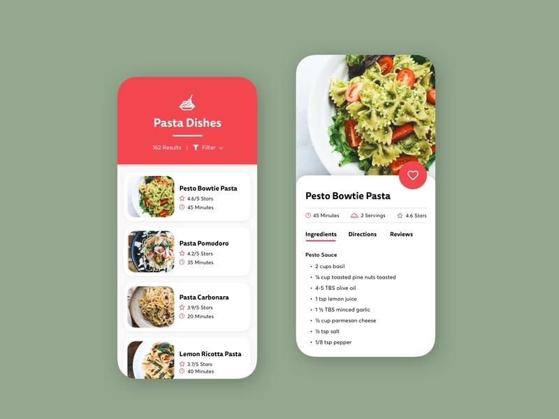 Daily UI: Recipe design recipe visual design uidesign ui