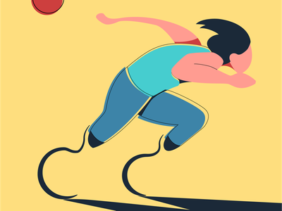 Paralympic runner vector illustration