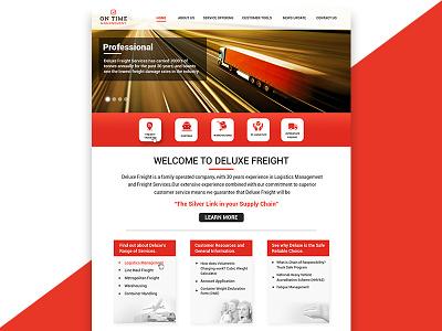Homepage Design australia homepage modern clean transportation logistics