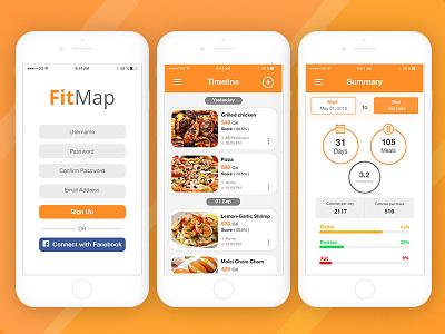FitMap App UI