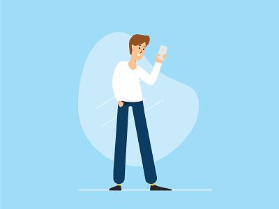 Minimalist Character Ilustration character simple minimalist design illustration