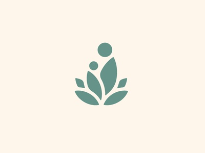 Agave + Mother and Child brand branding icon baby child parent agave desert southwest green logo