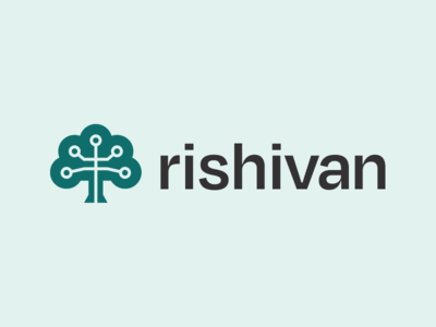 Rishivan tech green logos tree geometric simple icon identity branding logo