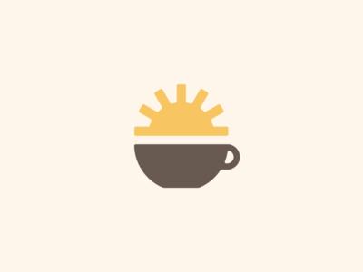 Cup O' Sunshine sun minimal identity branding coffee logo