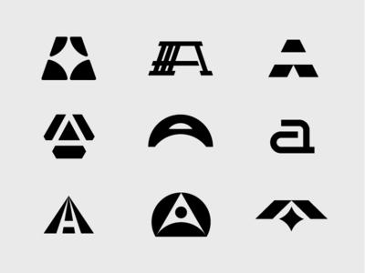 A exploation exploration identity branding icon logotype typography logo
