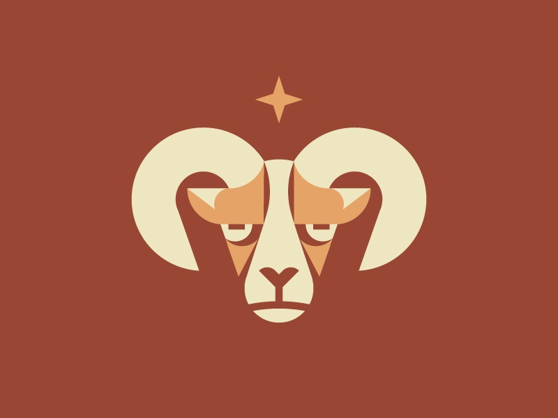 Ram vector geometric simple flat illustration