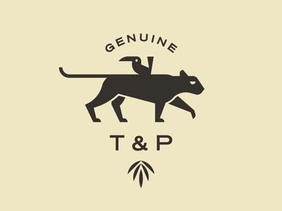 Toucan & Panther identity geometric animals lockup illustration branding logo
