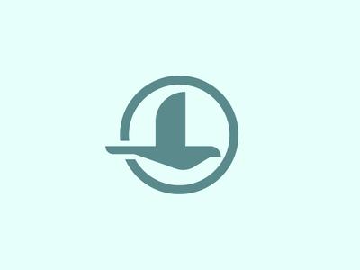 Osprey mongram geometric bird blue branding and identity branding logo