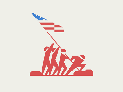 Memorial Day troops iconic soldiers flag american usa america geometric illustration