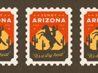 Sunny Arizona Stamp