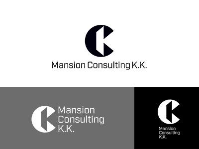 Mansion Consulting K.K. japan monotone identity minimal symbolmark logo