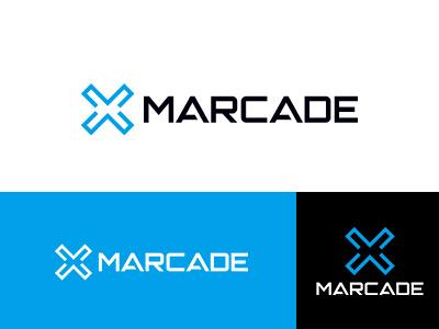 MARCADE design blue japan simple symbolmark logo minimal identity