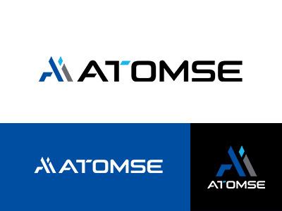 ATOMSE INC. corporate identity asia blue japan brand symbolmark logo minimal identity