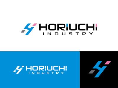 HORIUCHI INDUSTRY brandlogo corporate identity japan blue colorful brand symbolmark logo identity