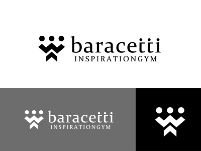baracetti inspirationGYM japan design gym logo gym monotone brand simple logo symbolmark minimal identity