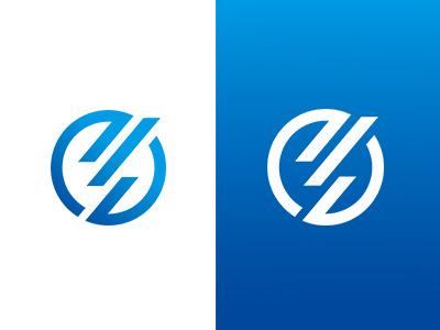 EXA logo identity gradation blue network e world earth resonance communication