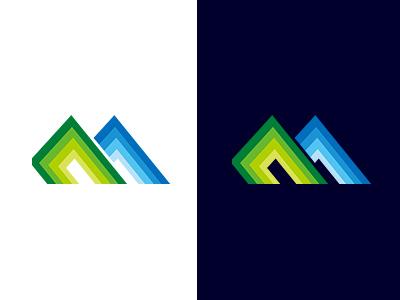 MSD SYMBOL COLLECTION 075 gradation flat mountain simple collection symbolmark logo minimal identity