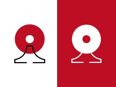 MSD SYMBOL COLLECTION 080 mountain sun red japan collection symbolmark logo minimal identity