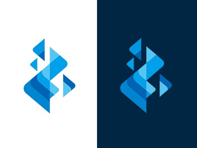MSD SYMBOL COLLECTION 081 simple blue fire brand collection symbolmark minimal logo identity