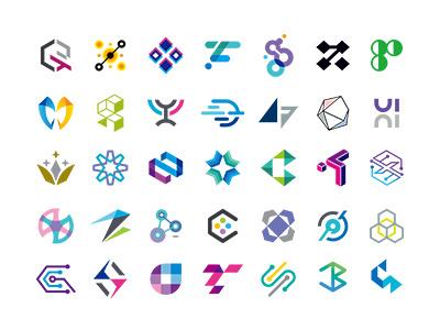 MSD SYMBOL COLLECTIONS gradation monotone colorful brand simple collection symbolmark logo minimal identity