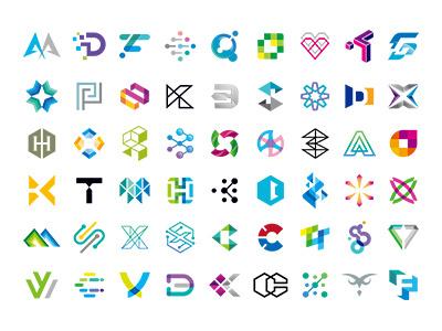 MSD SYMBOL COLLECTIONS Vol.2 sketch designgrid logogrid portfolio logowork designworks monotone colorful brand simple collection symbolmark logo minimal identity