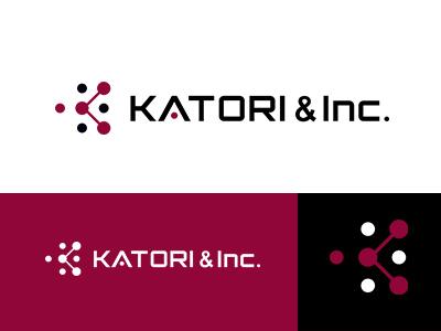 KATORI & Inc. line dot k japan brand simple identity logo symbolmark minimal