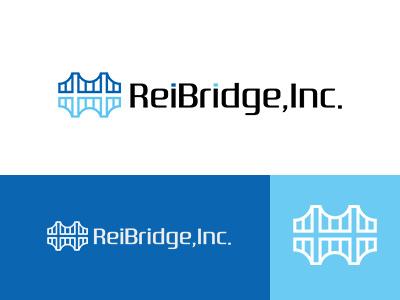 Reibridge,Inc. trade global bridge blue japan brand simple symbolmark logo minimal identity