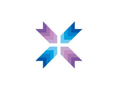 MSD SYMBOL COLLECTION 085 gradation flat designworks colorful brand simple collection symbolmark logo minimal identity