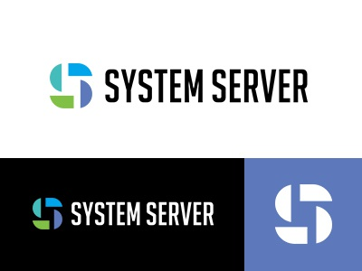 Systemserver minimallogo logodesign logoworld logowork designworks colorful japan brand simple logo symbolmark minimal identity