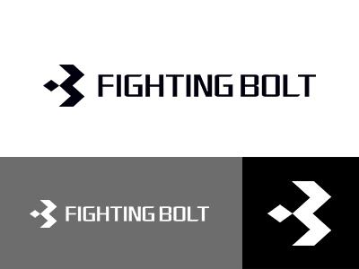 FIGHTING BOLT logoworld logodesign logowork designworks monotone japan brand simple symbolmark logo minimal identity