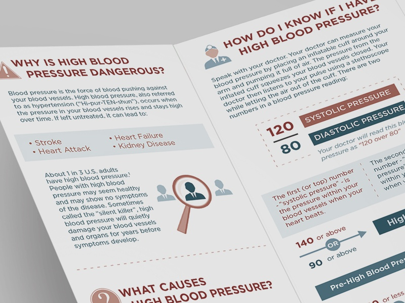 Medical Brochure medical high blood brochure danger life health icons simple open