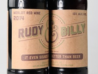 Rudy & Billy Wine Labels