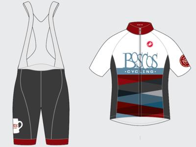 Boscos Cycling - 2015 uniform bibs kit cycling